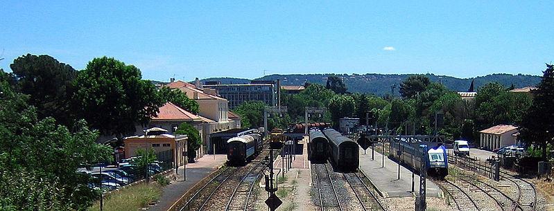 La ville d'Aix dans les Bouches-du-Rhône
